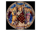Window with St Lawrence Enthroned and Angels Giclee Print