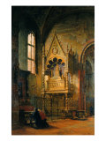 Interior of the Visconti Chapel, Church of Sant'Eustorgio Giclee Print by Felice Giani