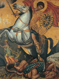 St George and the Dragon Impression giclée