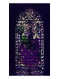 Stained-Glass Window with Figure of Saint Martyr Enthroned Gicleetryck av Parmigianino,
