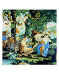 "Large Slab Decorated with ""Bacchus and Ariadne"" Giclee Print"