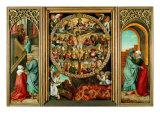Tryptych of the Rosary Giclée-tryk af Giacomo Ceruti