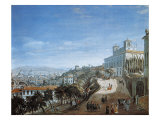 Panoramic View of Rome from Villa Medici Giclee Print