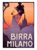 Birra Milano Giclée-tryk