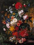 Flowers' Pot in a Garden Giclée-Druck