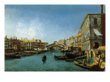 View of the Grand Canal from the Riva Del Vin and Riva Del Carbon Giclee Print by Alessandro Bonvicino Moretto
