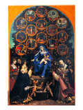 Madonna of the Rosary (Cingoli Altarpiece) Premium Giclee Print by  Romanino