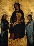 Madonna and Child in Glory Between St Francis and St Claire Giclee Print