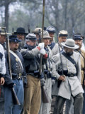 Confederate Infantry Preparing to Attack, Shiloh Battlefield, Tennessee Photographic Print