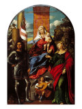 Madonna Between St George and St Lucy Giclee Print