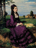 Portrait of a Woman in Lilac Giclee Print by Giovanni Antonio Pellegrini