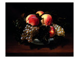 Earthenware Cup with Peaches, Grapes and Bees Giclee Print