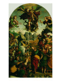 Raising of Lazarus and Fight Between St Michael and the Devil Giclée-Druck