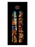Decorated Stained-Glass Window with Episode of the Vocation of St Matthew Giclee Print by Bonifacio Bembo