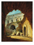 A Painter at Work in the Colosseum Giclee Print