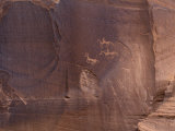 Petroglyphs of Native Americans Hunting on Horseback, Canyon De Chelly, Arizona Photographic Print