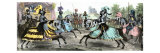 Knights Competing in a Tournament, Middle Ages Giclee Print