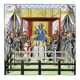 Plaintiff and Defendant Take the Oath before a Judge in the 1400s Giclee Print