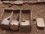 Anasazi Ancestral Puebloan Metates Y Manos, Betatakin Cliff Dwelling, Arizona Photographic Print