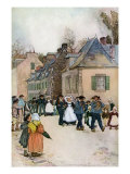 Wedding Party Strolling Through the Village of Pont-Aven in Brittany, France Giclee Print