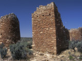 Round and Square Towers of Anasazi Ancestral Puebloan, Howenweep National Monument, Utah Photographic Print