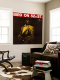 Charlie Parker - Bird on 52nd Street Wall Mural
