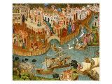 Marco Polo Leaving Venice on His Journey to China, 1338 Giclee Print