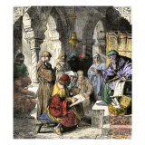Astronomy, Alchemy and Astrology Taught by Arab Scholars in Medieval Schools Giclee Print