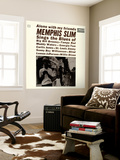 Memphis Slim - Alone with My Friends Wall Mural