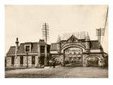Entrance to the Union Stockyards, Chicago, 1890s Giclee Print