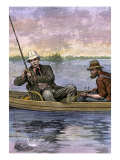 President Chester A. Arthur on a Fishing Trip, 1884 Giclee Print