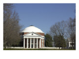 Rotunda of the University of Virginia, Designed by Thomas Jefferson, Charlottesville Giclee Print