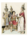 Native Actors and Actresses in Traditional Costume, Siam, 1800s Giclee Print