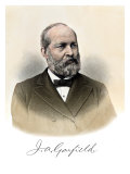 Us President James A. Garfield, with His Autograph Giclee Print