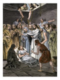 Jesus Raising Lazarus from His Tomb Giclée-Druck