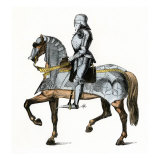 Knight Armed and Mounted, Ready for Battle Giclee Print