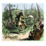 Native American Shaman Leading a Ceremonial Dance Giclee Print