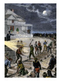 Workers Laying Railroad Track to Transport Wounded President Garfield to Elberon, Nj, 1881 Giclee Print