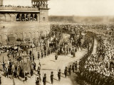 Lord Curzon, British Viceroy of India, Entering Delhi on an Elephant, with Lady Curzon, 1902 Photographic Print