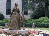 Statue of Abigail Adams with Son John Quincy Adams, Outside Adams Family's Church, Quincy, MA Photographic Print