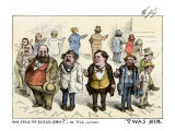 Who Stole the People's Money  'Twas Him Cartoon About Tammany Hall Artdal, 1871 Giclee Print