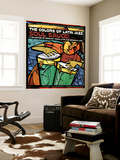 The Colors of Latin Jazz Soul Sauce! Premium Wall Mural