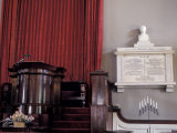 Memorial to John and Abigail Adams Next to the Pulpit in their Church in Quincy, Massachusetts Photographic Print