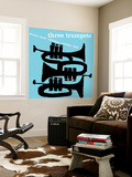 Three Trumpets Wall Mural