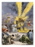 Prophet Elijah Invoking Yahweh over Baal's Priests on Mount Carmel Giclee Print