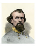 Confederate General Nathan Bedford Forrest in the Civil War Giclee Print