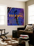 Blues Around the Clock Wall Mural