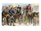 Candidate Visiting the Polls on Election Day, 1870s, USA Giclee Print