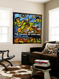 The Colors of Latin Jazz: Latin Jam! Wall Mural