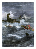 Shipwreck of Apostle Paul Off Malta in the Mediterranean Sea Giclee Print